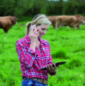 VERNETZT. Smartphones sind auch am Land selbstverständlich. Die daraus resultierende Daten bringen zahlreiche Möglichkeiten der Nutzung.