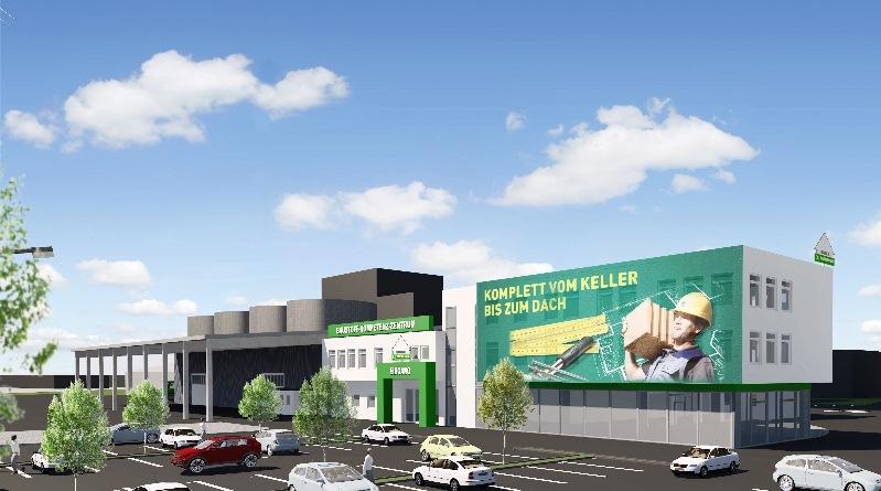 Unser lagerhaus blog neues baustoffzentrum am s dring in for Gartengestaltung 400 m2